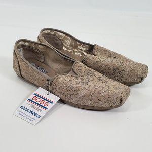 Bob's Memory Foam Lace Gemstone Slip On Shoes (MC)